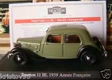 CITROEN TRACTION 11BL ARMEE 1939 1/43 UNIVERSAL HOBBIES
