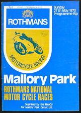 Mallory PARK ROTHMANS NAZIONALE MOTOCICLO programma RACE 27 MAGGIO 1973
