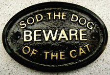 DOG CAT BEWARE HOUSE DOOR GATE PLAQUE SIGN FAMILY NEW