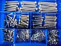 M2 + M2,5 1000 Teile Din 84 Sortiment: Schlitzschrauben Zylinderkopf DIN 84