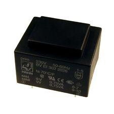 Hahn Print Trafo 230V Printtrafo 1,5VA 2x9V Netztrafo Transformator 098302