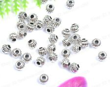 Wholesale Lots 100pcs Tibetan Silver Charms Loose Spacer Beads 5MM BE276