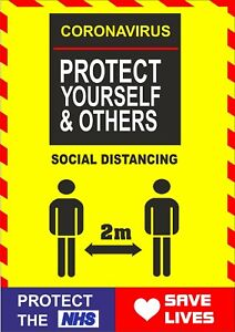 Social Distancing Window Sticker - 2m Sign Keep your Distance -