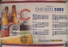 """Chicago Cubs Budweiser Bud Light Beer 2007 Schedule Calendar Poster 24"""" X 36"""""""