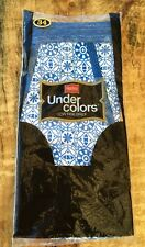 Vintage 1970's Hanes Under Colors Low Rise Brief Underwear 34 Blue & White NOS