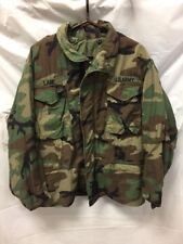 Vintage Mens Military Lined Jacket Sz Med-Short Camouflage US ARMY