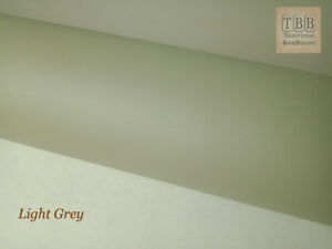 Quality Book cloth- 273 x 250 mm- Durable buckram with paper backing- Light grey