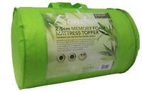 "2.5 cm New Bamboo Memory Foam Mattress Topper 1"" Soft Single Double King Pillow"