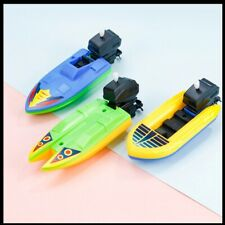 Speed Boat Ship Wind Up Toy Float In Water Kids Toys Classic Clockwork Toys Summ