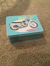 Motorcycle Tin Storage Triumph Toy Present Biscuit T110 Tr6r BSA 250 Cub 200