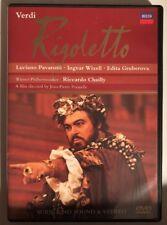Verdi Rigoletto Luciano Pavarotti, Ingvar Wixell, Edita Gruberova DECCA (DVD)