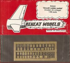 Reheat Models Photo-Etch Aircraft Rudder Pedals For 1/48 Scale Model Kit