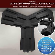 Pro-coustix Acoustic foam Corner Treatment Kit 6x Bass Traps 1x Corner Cubes