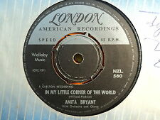 "Anita Bryant ""My Little Corner Of The World"" Excellent NZ 7"""