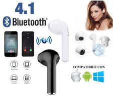 AURICOLARE WIRELESS I7 R BLUETOOTH V4.1 ANDROID APPLE iOS CUFFIA CONSEGNA RAPIDA