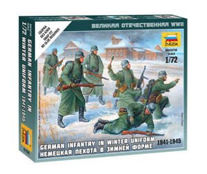 Zvezda 1/72 Figures - German Infantry in Winter Uniform 1941 - 1945 Z6198
