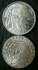 Two 1oz Silver Rounds Fashioned After US Coins