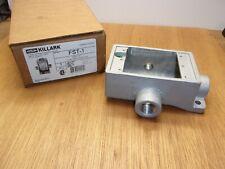Hubbell Killark Fst 1 Flush Mount Iron Device Box 3 Way 12 Hub Single Gang