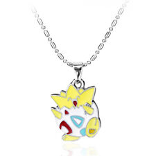 NEW Togepi Pendant Pikachu Pokemon Charm Silver Necklace Chain Cosplay Jewelry