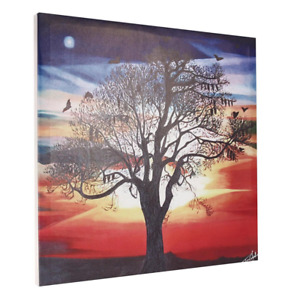 Canvas Wall Art Print Of Silhouette Tree Sunset Home Bedroom Decoration Painting