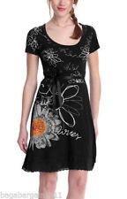 Desigual Round Neck Plus Size Viscose Dresses for Women
