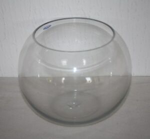 "Wedding Table Centerpiece Glass Fish Bubble Bowl - 8"""