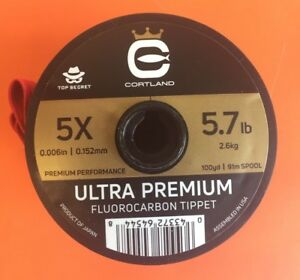 Cortland Ultra Premium Fluorocarbon Tippet 5X 100 Yards Expedited Shipping