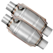 Pair 2pcs 2 Inletoutlet Catalytic Converter Universal Epa Approved Weld On