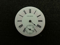 VINTAGE 6 SIZE COLUMBIA POCKETWATCH MOVEMENT HUNTING FANCY DIAL - RUNNING