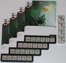 4 X DAGGER: TANDY BOWEN 43/142 The Amazing Spider-Man Dice Masters