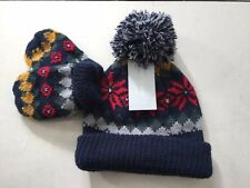 6ebd2e171de Baby Boys Hat Gloves Mit Set Winter O-6 Months Primark Navy