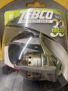 ZEBCO 33 MICRO GOLD 4.3:1 3 BALL BEARING TRIGGERSPIN REEL 21-11070 NEW