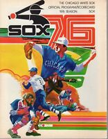 1976 (5/21) Baseball program Oakland A's @ Chicago White Sox, scored,w/Ticket~VG