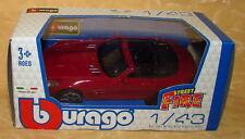 MODELLINO AUTO BURAGO MERCEDES BENZ SLS AMG ROADSTER ROSSO SCURO 1:43 cod.14428