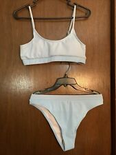New listing blue Padded SHEIN   2 pc swim bathing suit bikini size large