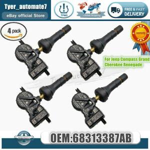 4PCS For Mopar 68313387AB TPMS Tire Air Pressure Monitor Sensors 68313387AC