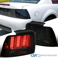 For 99-04 Ford Mustang Smoke Sequential LED Style Tail Lights Rear Brake Lamps