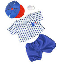 "Teddy Mountain ""All-Stars"" Baseball Uniform w/ Ball & Hat Outfit Fits all 14""-18"