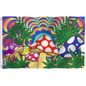 Anley Fly Breeze 3x5 Foot Marijuana Mushroom Flag - Weed Shrooms Flags
