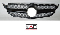 Gloss Black AMG Style Front Grille Fit Mercedes C Class W205 2015-18