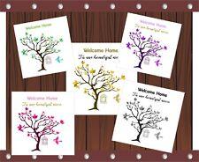 Personalised Handmade Welcome Tree Home Birdcage Bird card