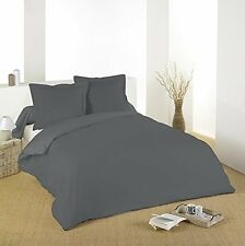 Lovely Casa Hc34820010 Alicia Housse de couette coton anthracite 240 x 220 cm