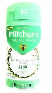 Mitchum Women Natural Powder Bamboo Powder Solid Deodorant Eucalyptus Scent