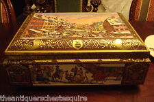 NURNBERG GERMANY Otto Schmidt  LARGE Collectible Cookie Tin Chest BOX - 17""