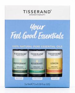 Tisserand YOUR FEEL GOOD ESSENTIALS Kit Lemon/Peppermint/Rosemary Essential Oils