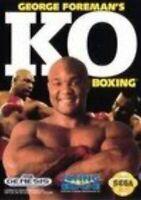 George Foreman Ko Boxing For Sega Genesis Vintage