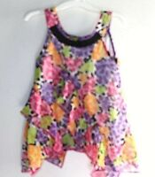 Piper Shirt Girls size 18 months Baby Sleeveless Floral Summer Flowing   --ZZ+
