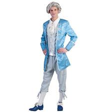 costume marchese conte principe carnevale barocco rococò azzurro grigio 56 - 58