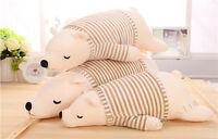 Big Stuffed Animal Plush Doll Toy Polar Bear Pillow Cushion Kids Gift