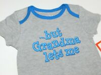Infant Boy 0 3 6 9 Month But Grandma Lets Me One Piece Creeper
